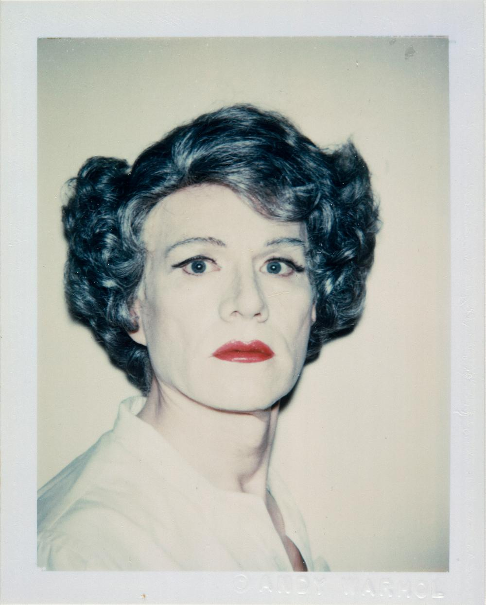 Self Portrait in Drag, 1986 © Andy Warhol© The Andy Warhol Foundation for the Visual Arts, Inc.© Centre Pompidou, MNAM-CCI/Philippe Migeat/Dist. RMN-GP© Adagp, Paris© SABAM Belgium 2018