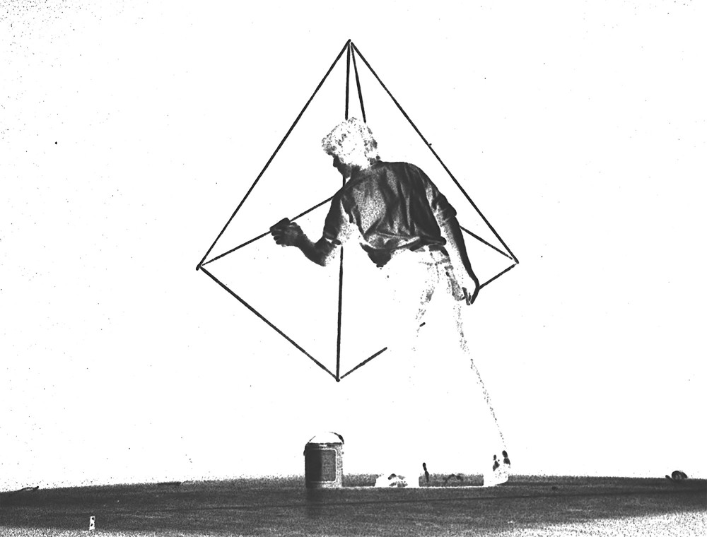 Pyramid Drawings, 1976-77, 16mm, nb, sil, 12min (detail)© Courtesy David Haxton