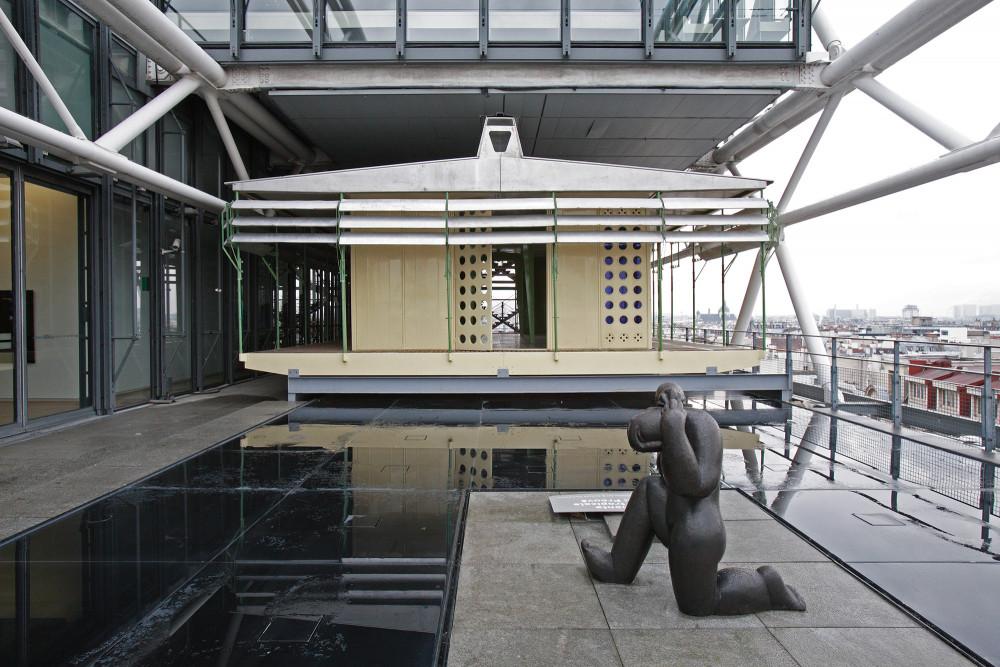 Maison tropicale, Brazzaville prototype, 1953© Jean Prouvé© Centre Pompidou, Mnam-CCI, Bibliothèque Kandinsky, fonds Jean Prouvé©  Adagp, Paris© SABAM Belgium 2018
