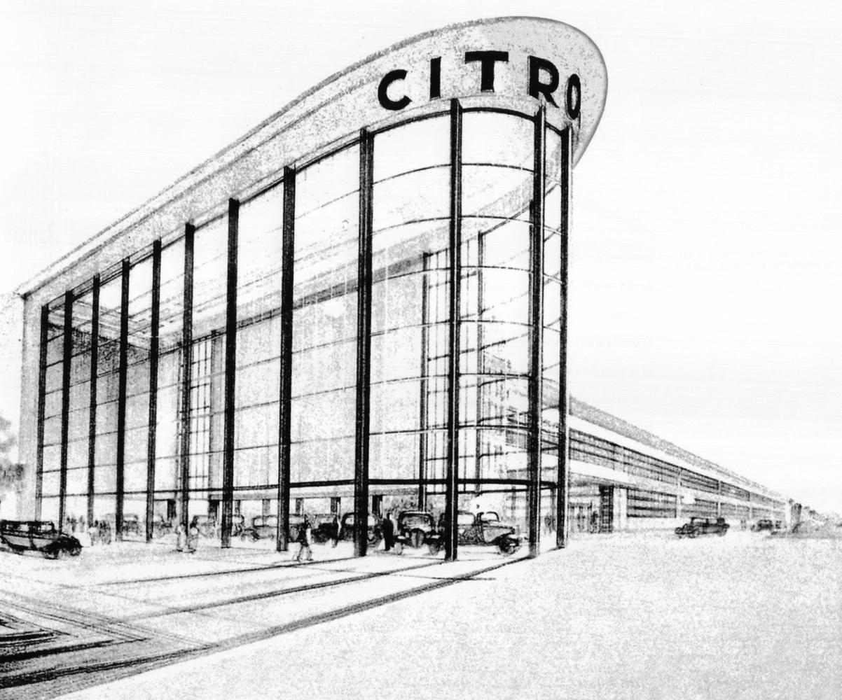 Esquisse de la filiale belge S.D. (RLICC-IPW3-Study Citroën 2013-2014)<span class='copyright'>&copy; S.N.</span>